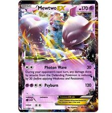 MEWTWO EX 61/162 Ultra Rare Pokemon Holo Foil Star Pokemon Card! Breakthrough!