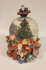 Christopher Radko Christmas Snow Globe plays Chestnuts Roasting on an Open Fire