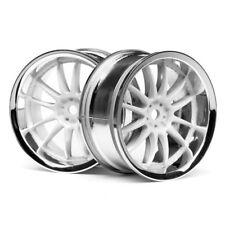HPI 3283 Work Xsa Wheels 26mm Chrome/White 3mm Offset (2)