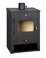 Wood Burning Stove Fireplace Log Burner Modern Multi Fuel 12 kW Prity K13