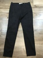 SEDUCTIVE SABRINA Black Faux Suede Skinny Pull On Pants Size 38 Stretch Leggings