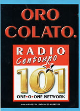 BELLEU999-PUBBLICITA'/ADVERTISING-1999- RADIO 101 - ORO COLATO