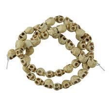 Howlite turquesa tallado cráneos espaciador granos flojos Blanco 1 Strand Crafts