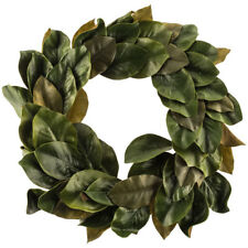 Wreath EVA Polyester Magnolia Leaves Simple Clean Design with Shades of Green