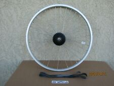 NEW BICYCLE 26'' X 1.75 REAR ALUMINUM RIM 6 SPEED FOR MTB, MONGOOSE,CRUISER,