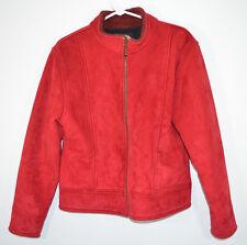County Clothing Co Red Zip Front Fleece Lined Jacket Coat Women's Medium Canada