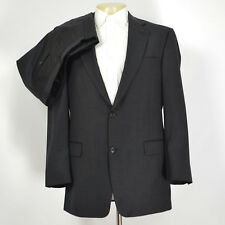 Mint HART SCHAFFNER MARX 100% Wool Charcoal Gray Suit Pleated Front 42R  35 x 30