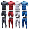 Mens Workout Compression Shirts Long Pants Shorts Outfits Gym Tights Sportswear
