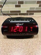 EQUITY TIME SKYSCAN LED Atomic Alarm Clock AM/FM Radio Battery Backup
