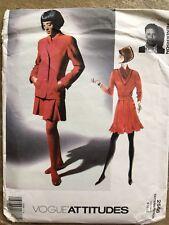 Vogue Attitudes Pattern 2566 -1990s Gordon Henderson Jacket, Skirt, Top 8-12
