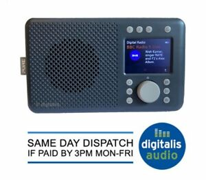 Pure Elan DAB+ DAB, FM Radio with Bluetooth Charcoal