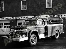 1968 Dodge Power Wagon Fire Truck New Metal Sign: Bloomsbury Hose Co. New Jersey