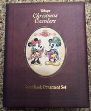 "Disney ""Christmas Carolers"" Storybook Ornament 6 Pc Set Mickey Goofy Donald New"