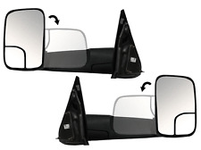 Ram Pickup Left & Right Power Heated Tow Flipup Side View Mirror Pair L+R