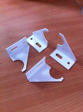 Vertical Designer Radiator Cup Wall Brackets White X4 34mm Opening