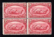 US 286 2c Trans-Mississippi Mint Block of 4 F-VF OG VVLH/NH SCV $250