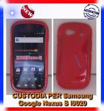 Pellicola+Custodia S-WAVE ROSSA per Samsung I9020 Nexus S (B4)