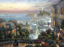 "SAN FRANCISCO LOMBARD STREET 25.5X34 THOMAS KINKADE ""RECEIVE SPECIAL OFFER"""