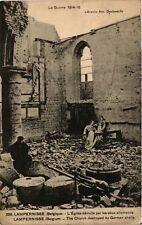 CPA  Militaire - Lampernisse - BElgique - L'Eglise détruite  (696555)