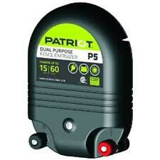 PATRIOT P5 Electric Fence Charger Energizer | 15 mile/.5Joule | AC or DC powered