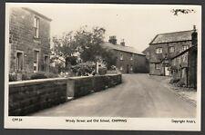 Postcard Chipping nr Longridge Lancashire the Windy Street Old School 1959 RP