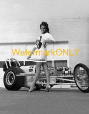"""""""Miss Moon Eyes"""" & """"MOON"""" 60s Vintage Top Fuel Dragster '60s era PHOTO!! #(9)"""