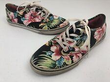 Vans Womens Tropical Floral Lace Up Shoes Size 8.5 Colorful