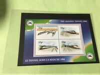 Channel Tunnel mint never hinged stamps sheet   Ref 53324