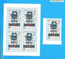CZECHOSLOVAKIA - Scott 2881 & 2881a single &  S/S  - VFMNH  - M Medek Art - 1993