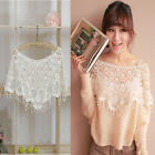 Best Women Casual Cape Lace Blouse Shirt Spring Autumn Long Sleeve Tops