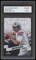 JUSTIN FIELDS 2021 / '21 LEAF PRIZED 1ST GRADED 10 ROOKIE CARD RC CHICAGO BEARS