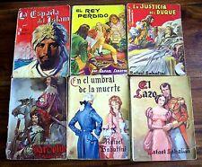 LOTE 6 NOVELAS - EDITORIAL MOLINO 1947 - RAFAEL SABATINI