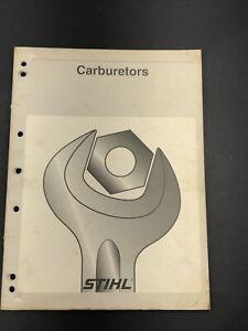 Stihl Chainsaw Carburetors 1996 Service Repair Ship Manual