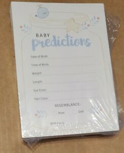 Baby Boy Prediction Cards, Baby Shower Games, Baby Boy Blue Advice Cards package