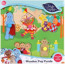 In The Night Garden Wooden Peg Puzzle 12M+ *BRAND NEW* in vacuum sealed plastic