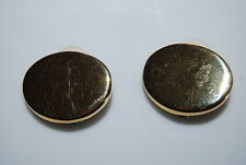 VINTAGE 1980'S GIORGIO ARMANI COUTURE RUNWAY GOLD TONED METAL CLIP EARRINGS