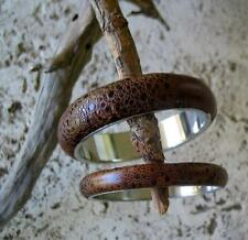 New Bufo Marinus Cane Toad Skin Leather Collectible Bangle Bracelet 3/8""