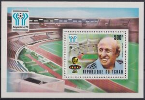 F-EX23729 CHAD TCHAD MNH 1978 WORLD CHAMPION SOCCER ARGENTINA FOOTBALL SCHOEN.