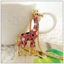 Betsey Johnson Crystal Giraffe Pendant charm Sweater chain necklace gift WQ