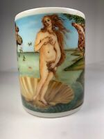 Vintage Birth Of Venus Botticelli   Ceramic Pencil and Pen Holder Made In Taiwan