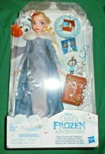 Disney Elsa Doll Olaf's Frozen Adventure Treasured Traditions Elsa Doll New