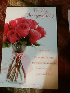 American Greetings Valentine card for Wife/ for my amazing wife I love you those