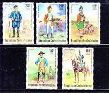 CENTRAL AFRICAN REPUBLIC #C139-C143  1976  UNIFORMS  MINT  VF NH  O.G  CTO
