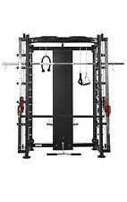 Multifunctional Gym Station Smith Machine Dual Cable Pulleys Pull Up Station