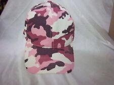 trucker hat baseball cap PINK CAMOUFLAGE retro cool cloth rare 1980
