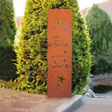 HOME DELUXE Edel Rost Garten Gartenschild Dekoschild Spruchtafel Gartenstecker