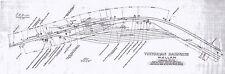 Victorian Railways Map..Wallan Station & Yard in 1961..a new A4 size copy