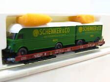 Liliput H0 200L Niederflurwagen mit Schenker Hängerzug beladen DB OVP (Q6999)