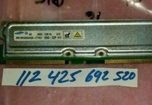 1GB RAMBUS  PC1066-32P ECC NON-REGISTER 184PIN RDRAM RAMBUS  64X8 DUAL RANK