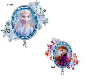 "Anagram Disney Frozen 2 SuperShape 30""x 26"" Birthday Party Supplies Foil Balloon"